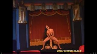 monster dildo deep inside her wet pussy.m